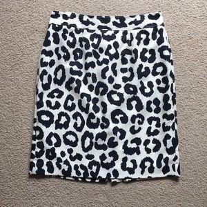 LOFT Leopard Print Pencil Skirt Size 8